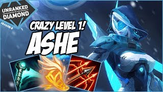 CRAZY LEVEL 1 ON ASHE! - Unranked to Diamond - Ep. 136 | League of Legends