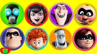 Disney The Incredibles 2 and Hotel Transylvania Play Doh Surprises