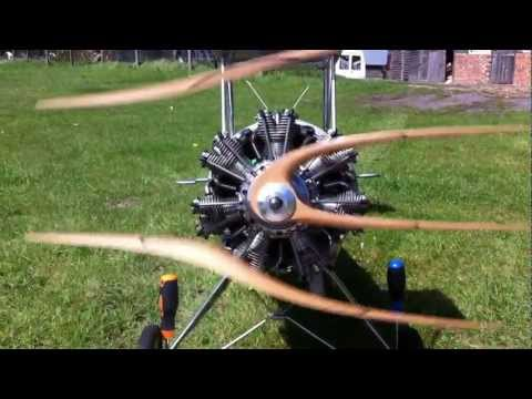 Evolution 7 Cylinder Radial Engine for RC Aircraft / Aeroplane. Review by RC Flyer Magazine