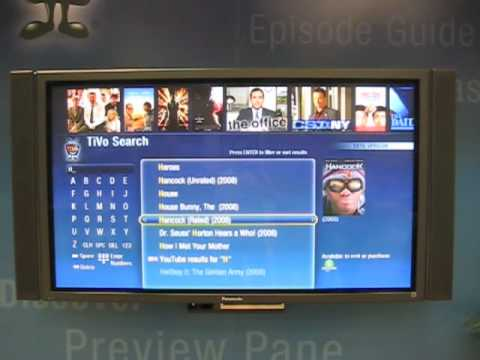 Tivo Search Functionality Walk Through CES 2009