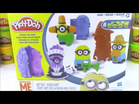 Play-doh Makin' Mayhem Despicable Me How-to Make Minions video