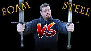 Foam vs Steel SWORDS for training in historical swordsmanship - HEMA