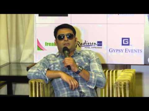 Kapil Sharma promotes his upcoming film in Ahmedabad, Gujara