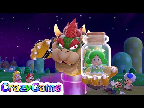 Super Mario 3D World 100% Walkthrough #1 (All Collectibles, 4K 60fps)