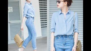 Hút Mắt Với Phong Cách Thời Trang Jean Nữ Của Sao Việt 2017 ❤💛💚