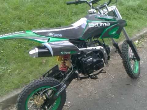 Akuma Assassin 2011 MK3 125cc motocross pit bike 4 stroke in GREEN