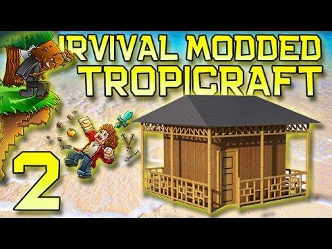Minecraft: Modded Tropicraft Survival Let's Play W mitch! Ep. 2 - Spider Challenge Dungeon! video