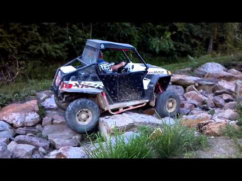 Polaris RZR XP 900 rock crawling at Windrock campground