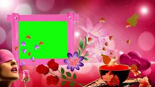 Green screen video effect Wedding green screen effect background beautiful frame green vfx