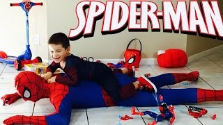 SPIDERMAN FOR KIDS AND SPIDERMAN TOYS FOR KIDS + PLAYING WITH SPIDEY AND SPIDERMAN KIDS VIDEO