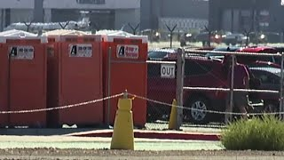 Uber, Lyft drivers disgusted by staging area port-a-potties at Las Vegas airport