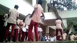 Porur boys school drums  in school