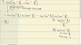 Trigonometry: Sum and Difference Formulas
