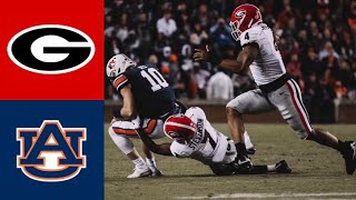 #4 Georgia vs #12 Auburn Highlights | NCAAF Week 12 | College Football Highlights