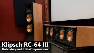 Klipsch RC-64 III Center Channel - Unboxing & Initial Impressions