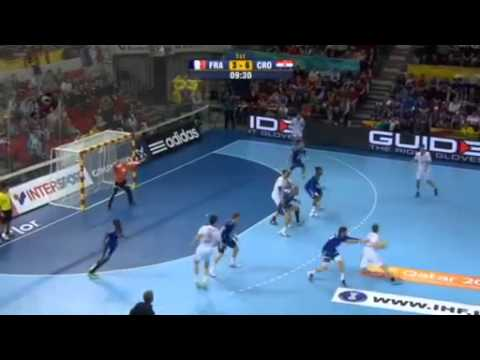 France V Croatia Quarter Final) 1st Half   Handball 2013 video