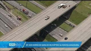 Helicóptero cai na Anhanguera e deixa dois mortos em São Paulo