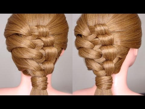 Intricate Knotted Party Hairstyle -Fonott party frizura