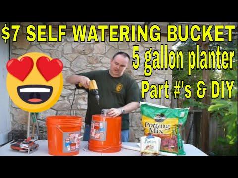 7 Dollar Self Watering Bucket Diy How To Make Each