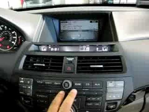 Pxamg Operation In 2009 Honda Accord With Navigation Youtube