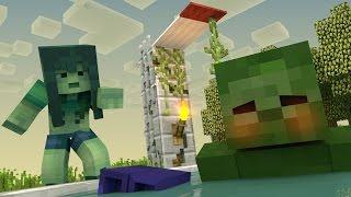 Monster School: Girls vs Boys - Diving Challenge! (Minecraft Animation)