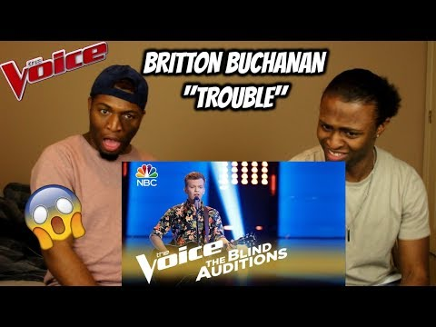 "The Voice 2018 Blind Audition - Britton Buchanan: ""Trouble"" (REACTION)"