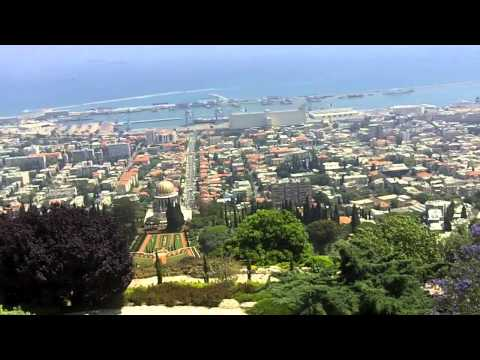 Israel Travel: Beautiful Haifa View of Mediterranean Sea and Bahai Gardens