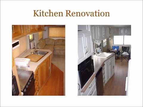 RV renovation - fifth wheel - remodel - makeover