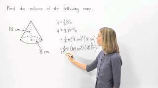 Volume of a Cone | MathHelp.com