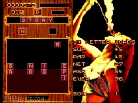 Wordtris - SNES Gameplay