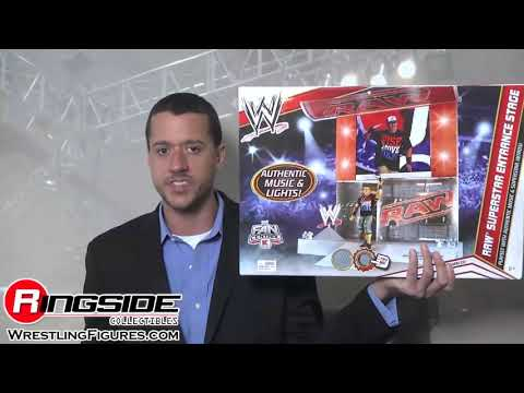 Wwe Raw Superstar Entrance Stage By Mattel Toy Wrestling Action Figure Playset video