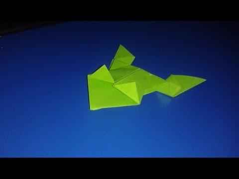 Лягушка из бумаги которая действительно прыгает.Jumping frog origami.Оригами из бумаги.