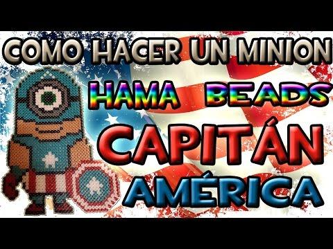 COMO HACER UN MINION CAPITÁN AMÉRICA | Hama Beads - Perler Bead