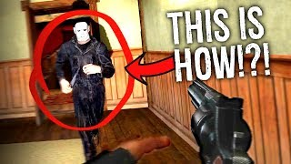 How to KILL MICHEAL MYERS... in the NEW Halloween Film Horror Game!?! (Halloween Horror Roleplay)