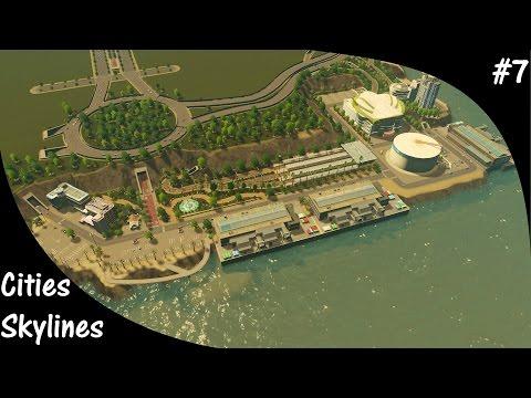 Cities Skylines S2E07 Cruise ship Harbor