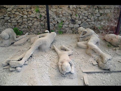 Pompeya  personas congeladas en cenizas (documentales)