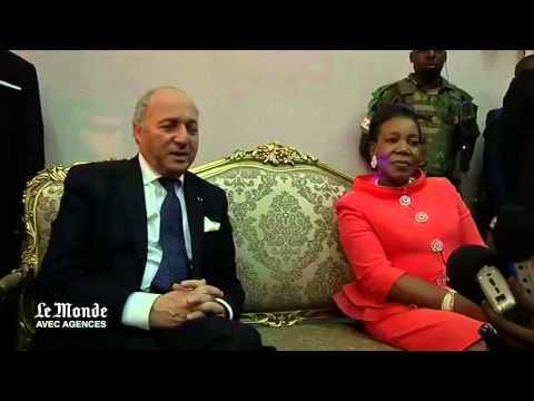 Laurent Fabius rencontre la nouvelle présidente centrafricaine Catherine Samba Panza