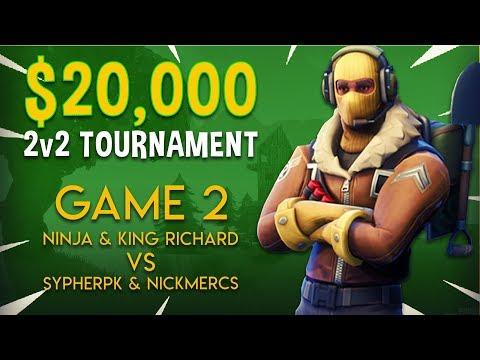 Ninja & King Richard vs SypherPK & NICKMERCS - Game 2 - Fortnite Tournament Gameplay