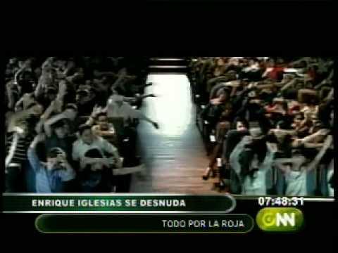 """Enrique Iglesias se desnuda """"todo por la roja"""""""