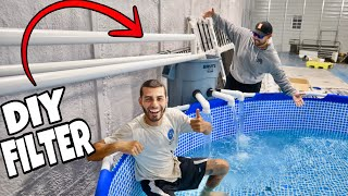 DIY Monster Pool Pond Filter in NEW Fish Gallery!
