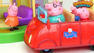 Best Peppa Pig Toy Learning Videos for Kids - Peppa Pig New House and Babysitting Baby Alexander!