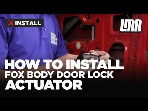Fox Body Mustang Door Lock Actuator Installation (79-93)