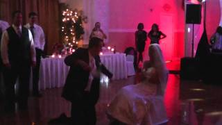 "World Renowned Chad Lemley Garter Dance - ""The way you make me feel"" - Chad and Lolly Lemley Wedding"