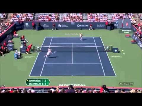 Caroline Wozniacki vs Vera Zvonareva 2010 Montreal Highlights