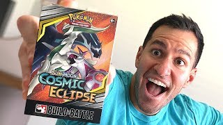 *COSMIC ECLIPSE PRERELEASE BOX!* Opening NEW Pokemon Cards With VERY RARE Card Pulled!