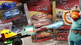 RARE Disney Cars Toy Hunt for Kids! We Found the BEST Cars - FUN Mix of Fortnite & Custom Lego Tanks
