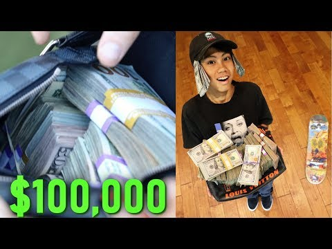 SURPRISING A 15 YEAR OLD JAPANESE SKATER WITH 100,000 DOLLARS (PRANK)