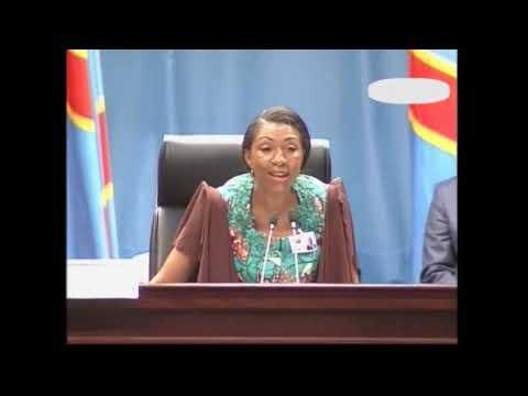 PREMIERE DISCOURS  DE JEANNINE MABUNDA A  L'ASSEMBLEE NATIONALE  APRES ELECTION