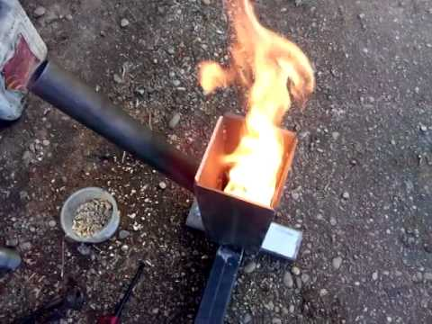 homemade pellet,wood chip or sawdust burner