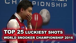 TOP 25 LUCKIEST SHOTS | World Snooker Championship 2016
